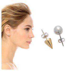 🆕 Joni Lim Ball & Spike Earrings NWOT